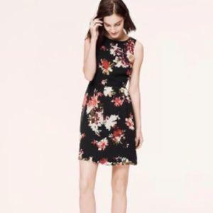 LOFT Fit & Flare Floral Chiffon Dress